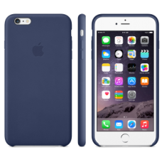 iPhone 6 Plus Leather Case - Midnight Blue